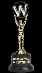 Best of the westside award winning by Elegant Dentistry